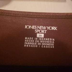 Jones New York Tops - Jones New York sport brown top
